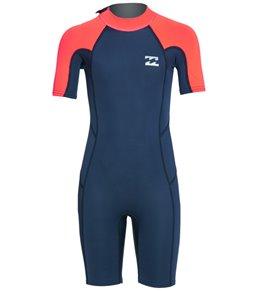 e463e5d595 Billabong Toddler 2/2 Absolute Back Zip Short Sleeve Spring Suit