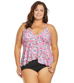 13b7fed87a Sunsets Curve Plus Size Kaleidoscope Harper Fly Away Tankini Top