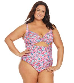 7cda066653944 Sunsets Curve Plus Size Kaleidoscope Sasha Crossover One Piece Swimsuit
