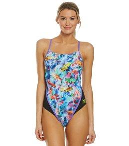 0e9ee73015 MP Michael Phelps Women's Vintage Racerback One Piece Swimsuit