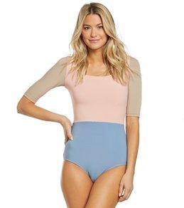 c0772951eb Seea Zuma Pastel Rib Half Sleeve One Piece Swimsuit