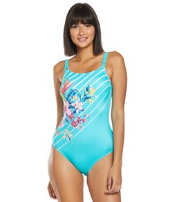 698a5920f6 Amoena Mastectomy Honolulu High Neck One Piece Swimsuit (B C Cup)