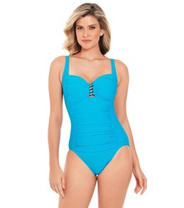 cf8214a413 Penbrooke Solid Beaded One Piece Swimsuit