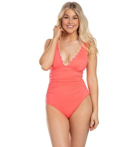 a8dfadc940433 Women's Designer Plunge Neck One Piece Swimsuits at SwimOutlet.com