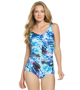 6e5b4c3ac39 T.H.E. Mastectomy Ocean Rose Twist One Piece Swimsuit
