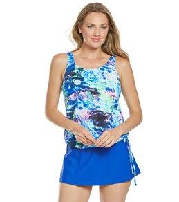 32826ae4a1134 Topanga Mastectomy Ocean Rose Blouson Tankini Top