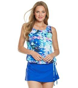 bf4c9d7aa4b95 Topanga Mastectomy Ocean Rose Wear Your Own Bra Tankini Top