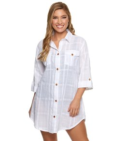3f9659edc1 Dotti On Island Time Button Up Cover Up Shirt Dress