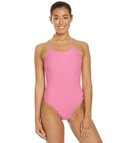 24a449a292 Speedo Turnz Women's Solid One Back One Piece Swimsuit