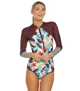 aadb117fe5 Body Glove Active Wind Of Change Paradise Front Zip Long Sleeve Paddle Suit