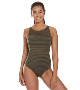 03929c68781d7 Women's Missy High Neck One Piece Swimsuits at SwimOutlet.com