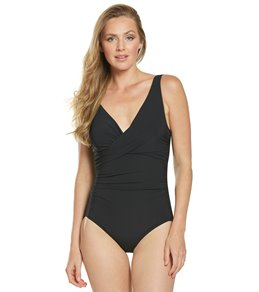 7ecb8e80cbf Coco Reef Contours Underwire Keepsake Pavillion Draped One Piece Swimsuit  (C D Cup)
