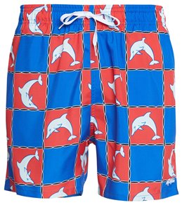 3a1fc3d432 Dolfin Classics Men's Dolfin Print 5 Swim Trunk