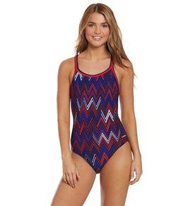 57cf566a1f685 Dolfin PolyLite Women's Chevron DBX Back One Piece Swimsuit