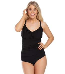02de55ffe0213 Capriosca Mastectomy Honey Comb Underwire One Piece Swimsuit (G Cup)