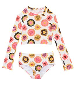 964df85c9d258 Billabong Girls' Ole Souliel Two Piece Rashguard Set (Big Kid, ...