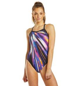 나이키 Nike Womens HydraStrong Space Highway Racerback One Piece Swimsuit