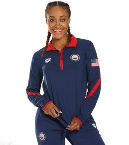 15ca43d619e39 Arena Women's National Team Tech 1/2 Zip Long Sleeve Shirt II