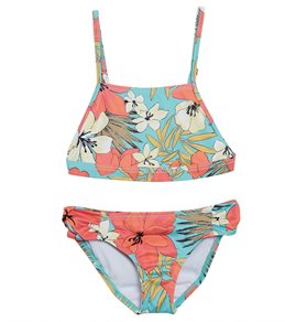 7ca2010837057 Billabong Girls' Aloha Sun Tank Two Piece Bikini Set (Little Kid, ...