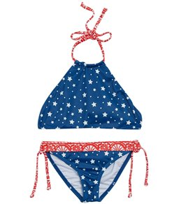 ad5c5b05c89 Billabong Girls' Free Babe Reversible High Neck Two Piece Bikini Set  (Little Kid,