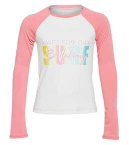 ede5342224 Billabong Girls' Sol Searcher Long Sleeve Rashguard (Little Kid, ...