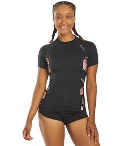 ONeill Womens Side Print Short Sleeve Rash Guard
