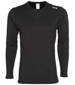 TYR Active Mens Thermal Long Sleeve Rashguard,Black