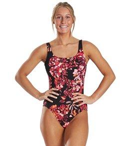 나이키 Nike Womens Chlorine Resistant Floral One Piece Swimsuit