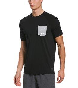 나이키 Nike Mens Logo Short Sleeve Hydro Rashguard