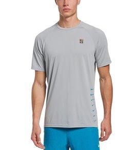 나이키 Nike Mens Multi Swoosh Short Sleeve Hydro Rashguard