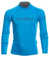 O'Neill Youth Basic Skins Long Sleeve Crew Rashguard