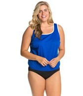 Tuffy Plus Size Blouson Tankini Top