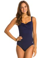 TYR Solid Twisted Bra Controlfit One Piece Swimsuit