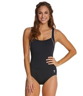 TYR Solid Square Neck Controlfit One PIece Swimsuit