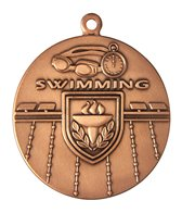 1.75 Swimming Die Struck Medal