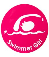 Bay Six Swimmer Girl Round Decal