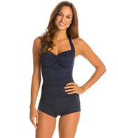 Seafolly Boyleg Halter One Piece Swimsuit