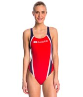 Speedo Lifeguard Quark Splice Pulse Back One Piece Swimsuit