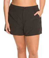 Maxine Women's Plus Size Solid Woven Boardshort
