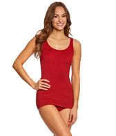 Penbrooke Krinkle Sheath Chlorine Resistant One Piece Swimsuit (D-Cup)