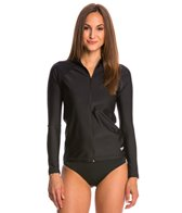 Speedo Women's Zip Front Long Sleeve Rashguard
