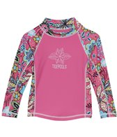 Tidepools Girls' Topsy Turvy L/S Rashguard (4-14)