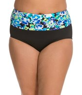 Beach House Plus Size Clearwater Floral Fold Over High Waist Bottom