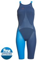 Speedo Women's LZR Racer Elite 2 Comfort Strap Kneeskin Tech Suit Swimsuit