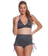 prego-swimwear-maternity-dot-ruched-two-piece-set
