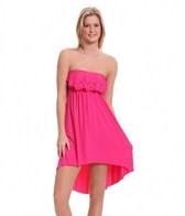 Laundry By Shelli Segal Andalusian Sunset Ruffle Bandeau Dress