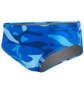 Splish Blue Camo Brief Swimsuit