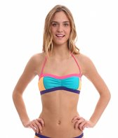 Roxy Swimwear Golden Girl Shirred Bandeau Bikini Top