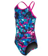 Sporti Paint Splatter Thin Strap One Piece Swimsuit Youth (22-28)