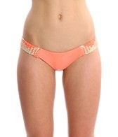Luli Fama Champagne Sparkle Intertwine Cheeky Bikini Bottoms